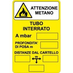 Cartello Attenzione Metano
