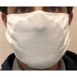 Mascherina protettiva lavabile in carbonio antistatico e idrorepellente