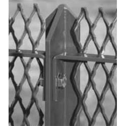 Montante H1500 T 50x50x7 a punta 45° zincate a caldo per pannelli recinzione Facile