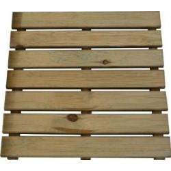 Pedana zigrinata in legno 50x50x3,2cm