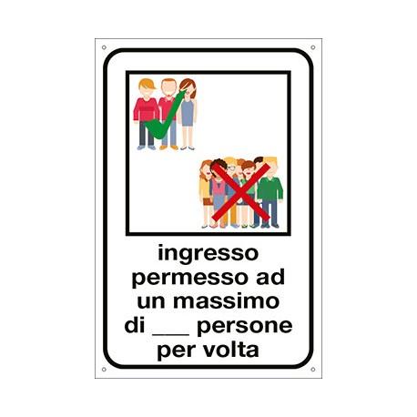 Cartello adesivo Covid cm 30x20 - Ingresso permesso