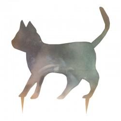 Sagoma gatto orizzontale marrone