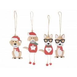 Addobbo natalizio in legno cagnolino