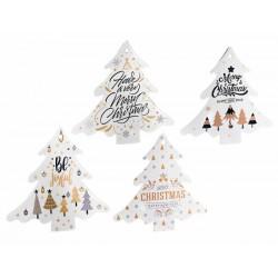 Sottopentola in ceramica albero Natale
