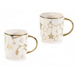 Tazza in porcellana con decori oro