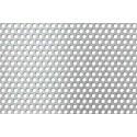 Lamiera forata inox (aisi 304) dalle dimensioni 100x200cm, spessore 0,8mm, foro ø5mm, passo 8mm a 60°