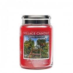 Candela in giara di vetro Village Candle - Apple Wood L