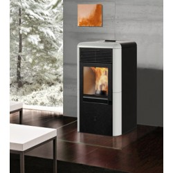 Stufa a pellet POINT 8kW Italiana Camini color bianco