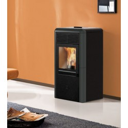 Stufa a pellet POINT 8kW Italiana Camini color grigio