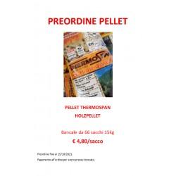 Pellet THERMOSPAN 15 kg EN Plus A1 DE013 - Bancale da 66 sacchi
