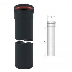 Tubo Pellet Ø8x50 cm con smalto porcellanato colore nero
