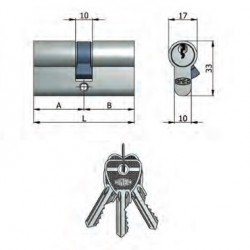 Doppio cilindro sagomato nichelato