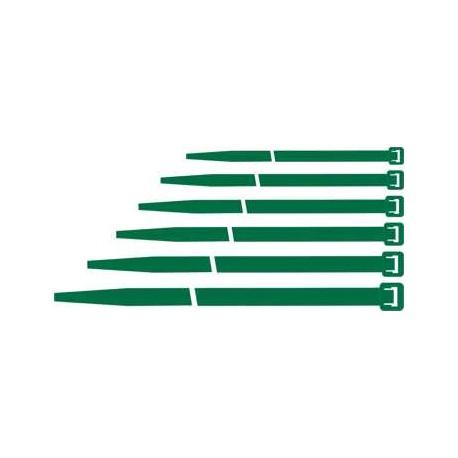 Fascetta di cablaggio Maurer nylon 140x3,6mm verde conf. 100pz