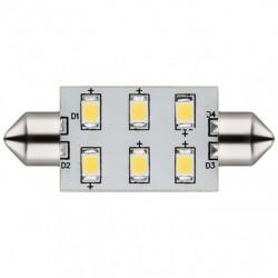 Lampada LED 6 SMD 5050 37mm bianco