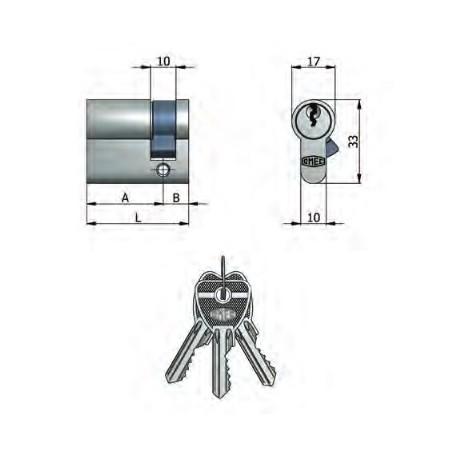 Mezzo cilindro nichelato