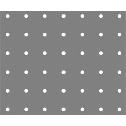 Lamiera zincata ( sendzimir ) dalle dimensioni 100x200 cm  spessore 1,5 mm foro D.5 passo 25 a 90°