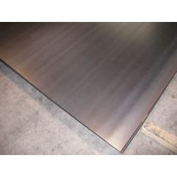 Lamiera nera in fe (acciaio comune) dalle dimensioni di 100x200cm, spessore 2mm