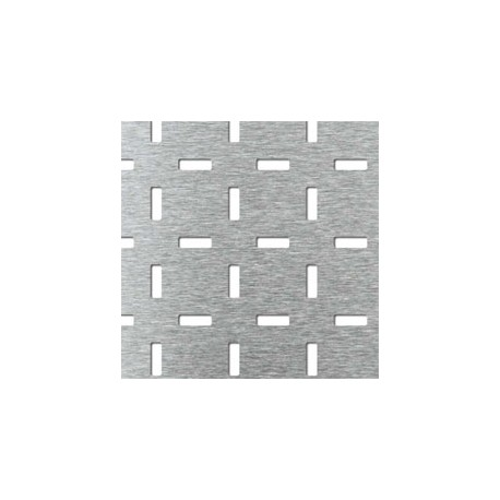 Lamiera forata in fe (acciaio comune) dalle dimensioni 125x250cm, spessore 2 mm, modello Matrix